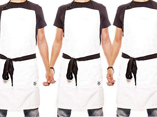 delantal blanco de la marca PESANI