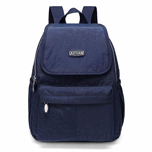 AOTIAN Kleine Rucksack Für Mädchen Und Damen Leichtgewicht Lässiger Tagesrucksack Schultaschen 10 Liter Blau