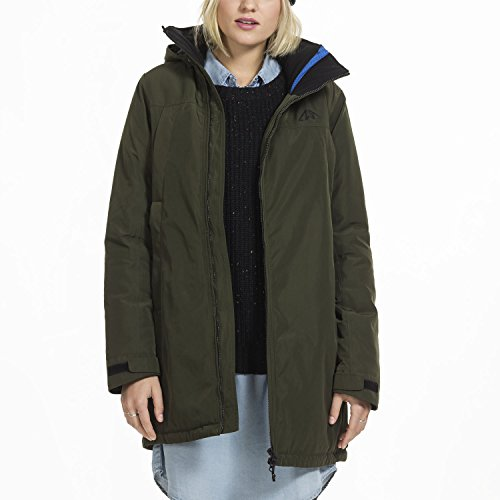 Zugspitze Mantel Damen in Grün - Sanna - Wintermantel, Winterjacke - Größe S - Nur erhältlich auf Amazon.de