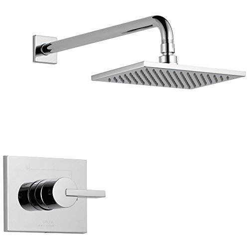 Vero 14 Series Single-Function Shower Trim Kit with Single-Spray Touch-Clean Rain Shower Head, Chrome  (Valve Not Included) - Delta T14253