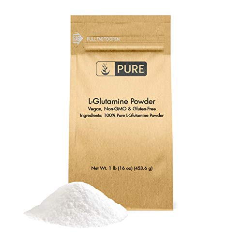 100% Pure L-Glutamine Powder, 1 lb, Gluten-Free, Non-GMO, Immunity Boosting, Lab Tested, Vegan, Made in The US, Eco-Friendly Packaging