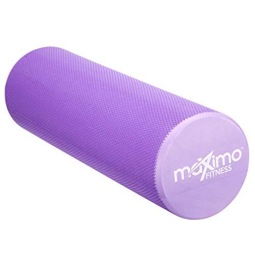 Maximo Fitness Rodillo DE Espuma - EVA - 15cm * 45cm, Peso Ligero - Proporciona un Masaje Muscular Firme Pero cómodo - Guía de Inicio Rápido Gimnasia, Pilates, Yoga - ¡Garantía de por Vida!