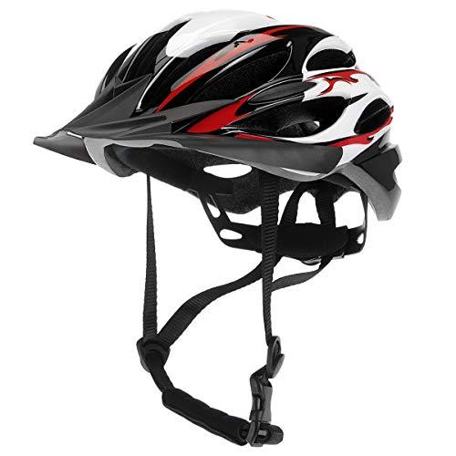 XQmax® Allround Fahrradhelm für Kinder & Teenager - Rot | inkl. Luftschlitze - Kinngurt - Schnellverschluss - Crossblende