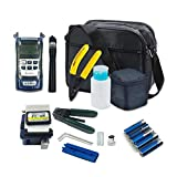 Kit de herramientas FTTH de fibra óptica con cuchilla de fibra FC-6S y medidor de potencia óptica a 5 km
