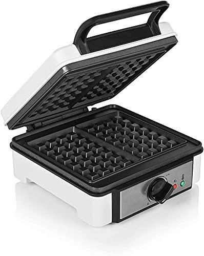 Gofrera Eléctrica, Termostato Regulable, 1200W con Revestimiento Antiadherente Plancha Para Waffle, Waflera Profesional...