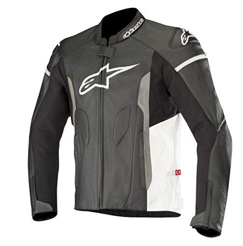 Alpinestars Faster Airflow - Chaqueta de piel para hombre, color negro y blanco, 52