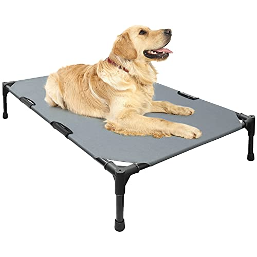 ANOWDECO Elevated Dog Bed,Portable Raised Dog Bed Cooling Pet Cot ,Washable Dog Bed for Indoor & Outdoor Use, No-Slip Feet, Multiple Sizes (X-Large)
