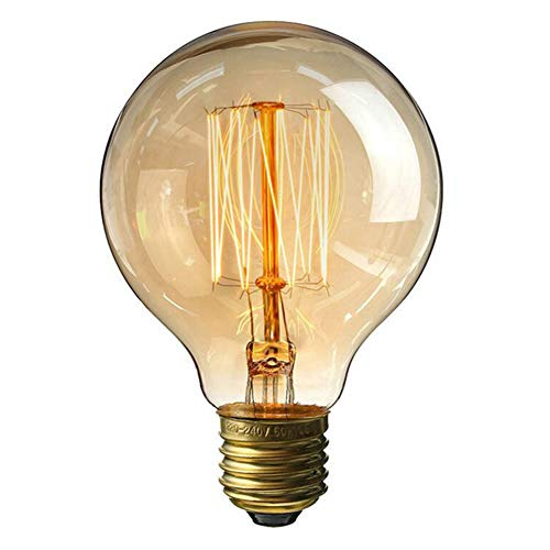 Bombilla Edison Globos Grande De LED De Edison E27 G95 40W Luz Calida 3000K Iluminación Omnidireccional Para Lampara Colgante De Techo, Lot De 10 De