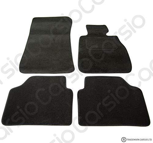 Carsio Carp-cut-1033-(2 x Velcro) Alfombrillas de Coche a Medida para BMW Serie 3 E90 E91-4 Piezas