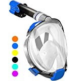 WSTOO Full Face Snorkel Mask,Advanced Safety Breathing System Allows You to Breathe More Fresh Air While Snorkeling,180 Panoramic Anti...