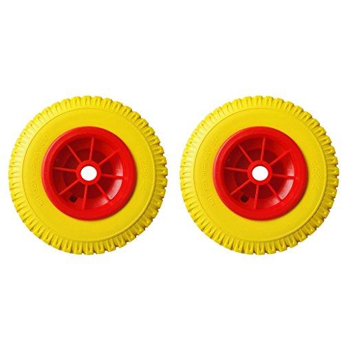 sharprepublic 2 Neumáticos de Repuesto a Prueba de Pinchazos de 10'0,88' en Rueda Roja para Carrito de Kayak /