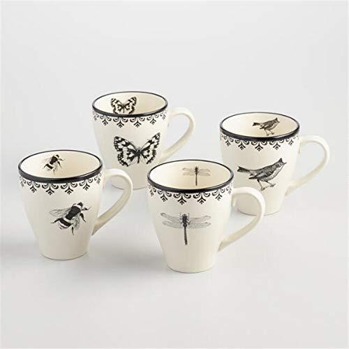Tetera de hierro fundido, juego de tetera, taza de 4 piezas, taza para beber leche, taza de café, taza de té, 4 piezas