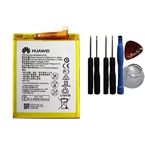 Bateria Original (HB366481ECW) Compatible con Honor 8/ Honor 8 Dual SIM/ P9/ P9 Dual SIM/ P9 Lite/ P9 Lite Dual SIM LTE / P20 Lite / Y7 2018 /P Smart/Honor 9 Lite, (3000 mAh)+ Herramientas