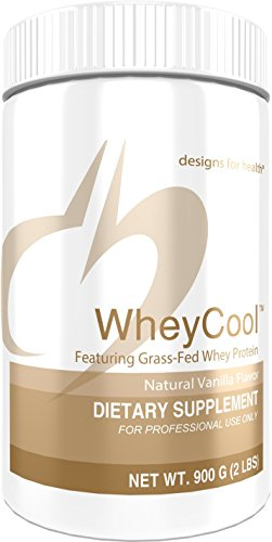 Designs for Health WheyCool - Vanilla Grass Fed Whey Protein Powder with 23g Protein (30 Servings / 900g)