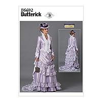 【Butterick】歴史的衣装コスチューム型紙 サイズ:6-8-10-12-14 B6692