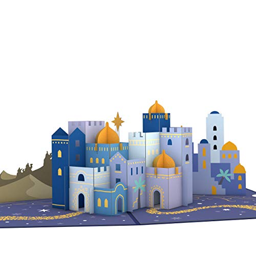 Lovepop Bethlehem Pop Up Card - 3D Cards, Religious Christmas Card, Pop Up Holiday Card, Christmas Pop Up Card, Holiday Greeting Card