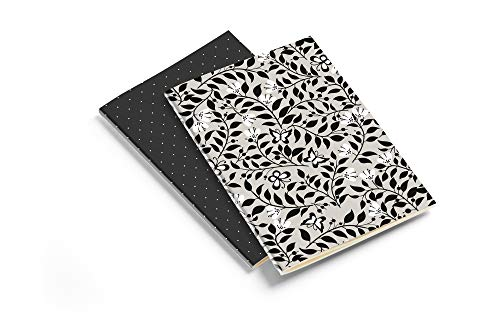 Miquelrius - Pack 2 Cuadernos - Tamaño A5, Rayado Puntos Dots, 40 Hojas de 80 gms, Always Black