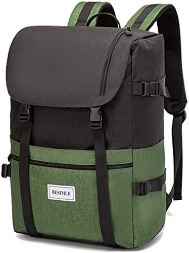 BESIMLE Laptop Backpack 26L 35L Waterproof Travel Roll Top Backpack Rucksack Casual Daypack product image
