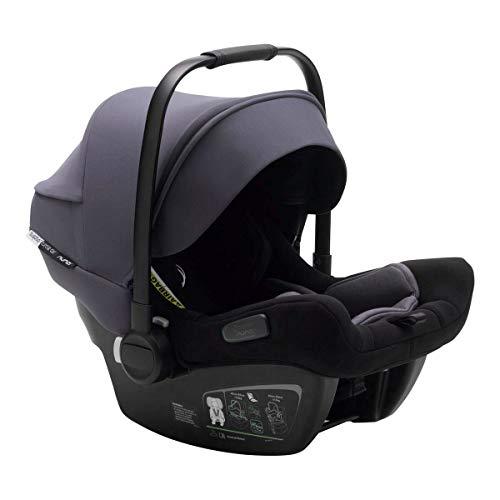 Bugaboo Turtle Air by Nuna – Autokindersitz für Neugeborene – Stabiler, leichter Autositz mit Tragebügel und stahlblauem Sonnendach