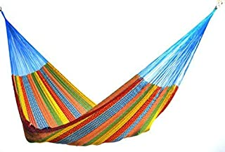 Hammocks Rada The Ultimate Mayan Relaxation Hammock | Perfect for 1 to 3 People | Comfortable, Beautiful, Hand Made in The Yucatan | Outdoor & Indoor Hammock Bed (Multicolor Family Size)