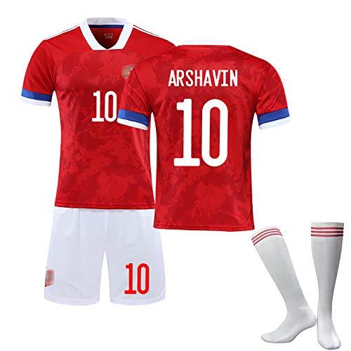DFGH Fußballtrikot,Gelten Kokorin Arshavin Kerzhakov, Trikots des Russland 2020 (Heim), Fußballanzüge für Erwachsene und Kinder, anpassbar-10#-S