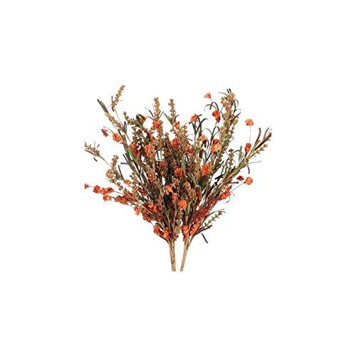 Luckylele Flores falsas flores secas ramo de flores falsas flores hechas a mano flores de ramos de plástico arreglos florales para la boda casa de la oficina de la oficina del hotel decoración del res