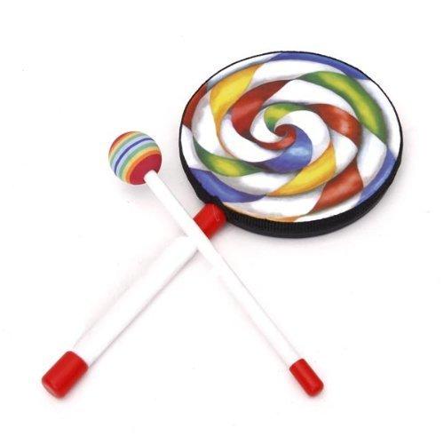 tykusm lolipop-shape Kids mano tambor con maza de juguete sonido (colorido)
