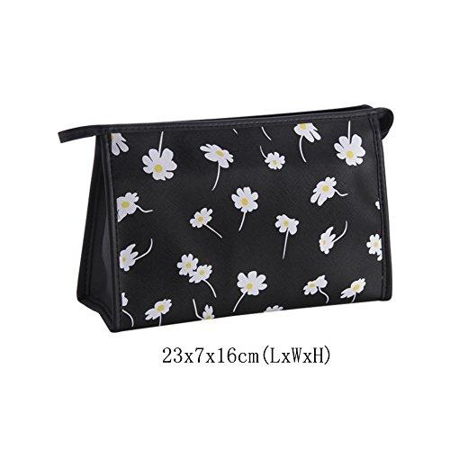 Bolsa de maquillaje pequeña, Bolsas de maquillaje viajes Gran capacidad Múltiples funciones Simple y portable Bolsa de almacenamiento Lindo Cartoon Neceser para mujer-O 23x7x16cm(9x3x6inch)