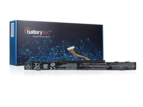 Batterytec Laptop Battery for ACER KT.00403.025, KT.00403.034, KT.004B3.025, AL15A32, (4ICR17/65); Extensa 2510, 2511, 2520; TravelMate P248-M, P257-M, P258-M, P277-M.[14.4V 2500mAh, 1 Year Warranty]