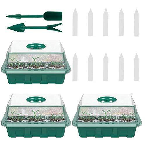 YEKKU Bandejas de semillero para cultivar plantas para germinación de semillas, charola de germinación, bandeja de jardinería, bandeja para cultivar y cultivar semillas