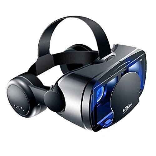 RRunzfon 3D VR Casco de Realidad Virtual Gaming Gafas 3D Películas Gafas con Auriculares compatibles con iPhone Android 5 a 7 Pulgadas Móviles, Productos electrónicos Diarios