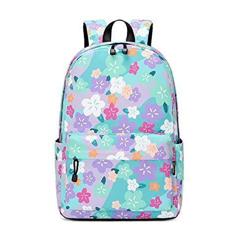 Wadirum Mochila Escolar Moderna para niño y niña de Viaje para Laptop Flor