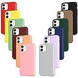 ivoler Pack de 12 Coque pour iPhone 11, Souple TPU Silicone Housse Etui Coque de Protection (Noir, Gris, Bleu, Vert Foncé, Vert, Violet, Rose, Vin Rouge, Rouge, Jaune, Orange, Marron)
