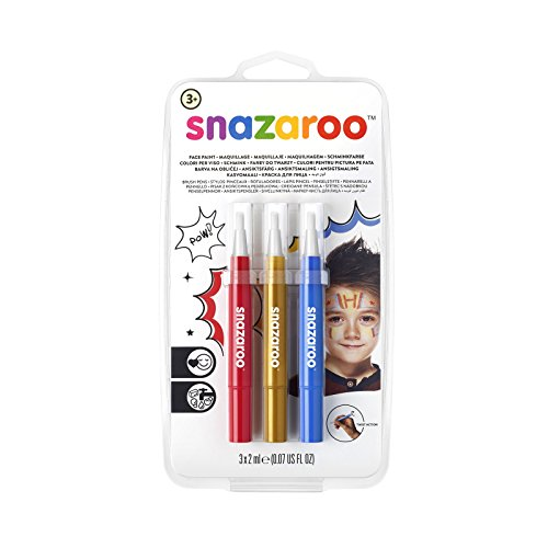 Snazaroo - Schminke für Verkleiden & Kostüme in Rot/Gold/Blau, Größe Abenteuer
