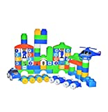 Best Trending 110 PCS OF BLOCKS MOST POPULAR BRICKS High Quality Polypropylene Soft Plastic It Also Improves Creativity By Making Their Own Designs With Blocks. It Also Develops Intellectual Capacity Of The Child By Improving Mathematics Skills And G...