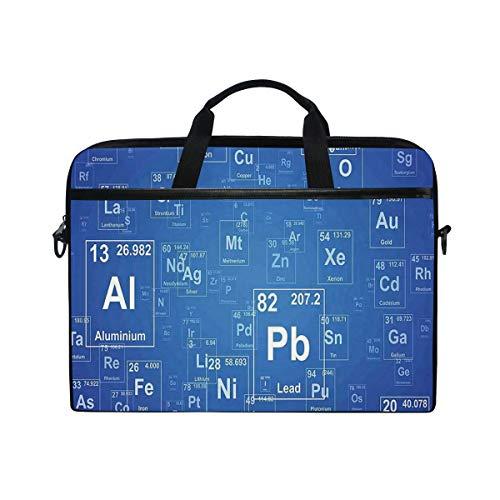 VICAFUCI New 15-15.4 Zoll Laptop Tasche,Umhängetasche,Handtasche,Chemie-TV-Show inspirierte Bild mit periodischen Element Tabelle Print Art