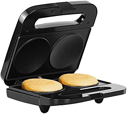 Holstein Housewares HH-09125002SS 2 Section Arepa Maker Black/Stainless Steel