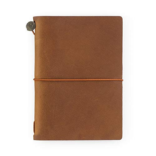 Midori Traveler's Notebook - Starter Kit, Camel (Passport Size) Photo #7