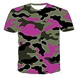 Manga Corta Camiseta De Camuflaje 3D Verano para Hombre, Camisa De Manga Corta, Tops Interesantes, Camiseta Informal para Hombre,