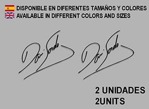 Ecoshirt IF-7KR8-DFB3 naklejka Signatur, firma Dani Sordo F104 winylowa Adesivi Decal Naklejka residured 2 mm Naklejka Car Voiture czarna
