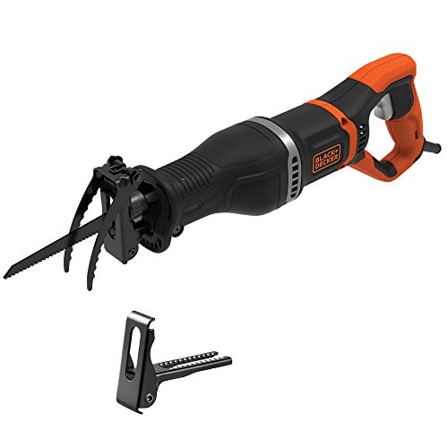 BLACK+DECKER BES301K 7 Amp Reciprocating Saw with Removeable Branch Holder