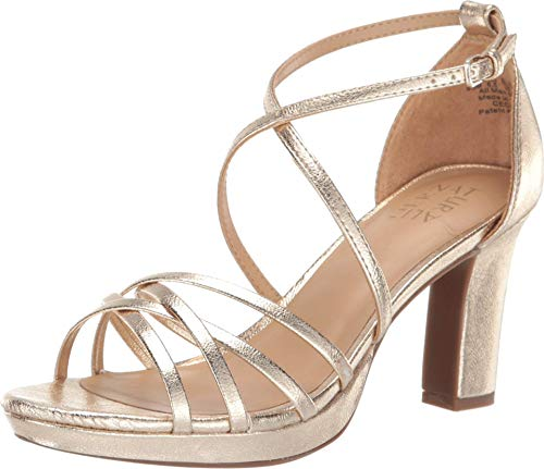 Price comparison product image Naturalizer Womens Cecile Gold Heeled Sandals 5.M