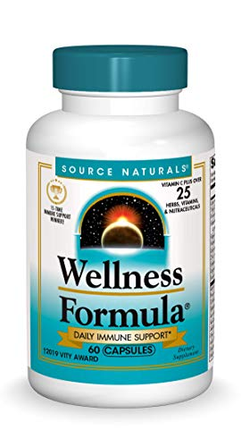 Source Naturals Wellness Formula Bio-Aligned Vitamins & Herbal Defense - Immune System Support Supplement & Immunity Booster - 60 Capsules (Pack of 2)
