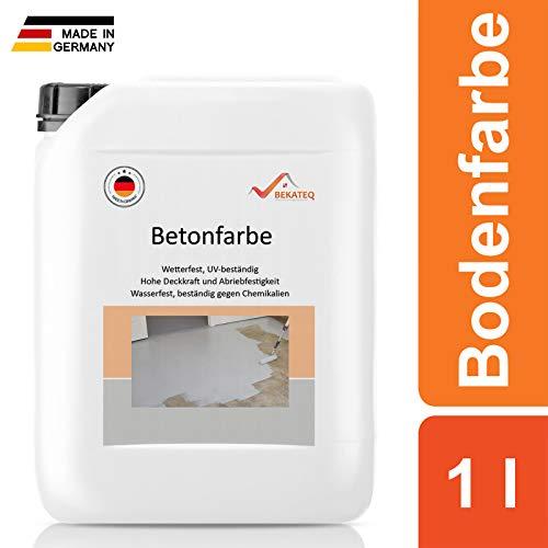 BEKATEQ BE-700 Bodenbeschichtung, 1l Betongrau, Betonfarbe seidenmatt, für innen und außen