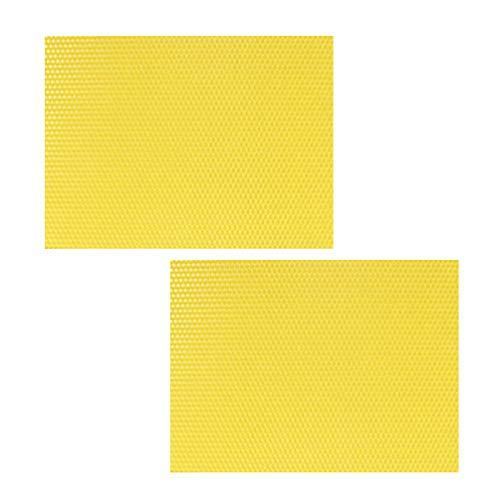 Cabilock 30 Piezas de Láminas de Cera de Abejas para Manualidades Láminas de Cera de Panal Equipo de Apicultura Suministros para Hacer Velas para La Tienda en Casa
