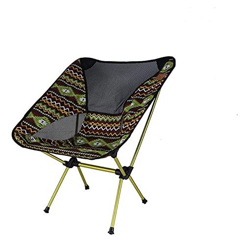 GO-AHEAD Silla Camping Sillas de Luna ultraligeras Silla de jardín portátil Pesca Camping Acampar Sillón Plegable extraíble