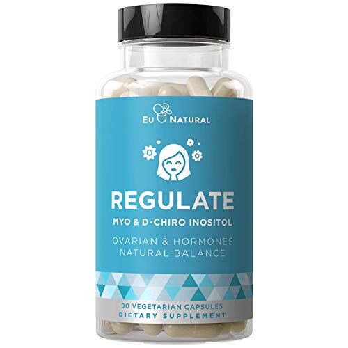 Regulate Myo-Inositol & D-Chiro Inositol – Fertility, Hormonal, Menstrual & Ovarian Support Supplement – Hormone Balance at Optimal 40:1 Ratio – 90 Vegetarian Soft Capsules
