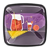 Tiradores cuadrados de zumo de pomelo con tiradores de pomelo para puerta de armario, armario, armario, cajones, 4 unidades