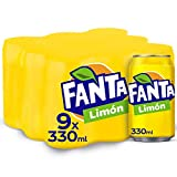 Fanta Limón Lata - 330 ml (Pack de 9)