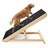 """Pet Ramp for All Dogs and Cats - for Couch or Bed,6 Layer Adjustable Ramp Up to 200 Lbs,40 in Long Adjustable from 13"""" to 24"""" with Paw Traction Mat and 4 Self-Adhesive Anti-Skid Mats"""